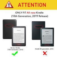 磁気 スマートケース Amazon 新型 Kindle 10th Genetation 2019 リリース 超スリムレザーフォリオ