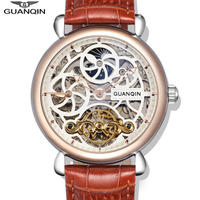 GUANQIN 自動巻き腕時計 スケルトン トーゥルビヨンデザイン 40mm 裏スケ クラシック