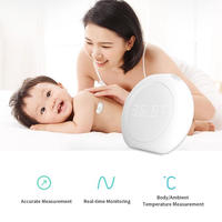 ミニポータブル ワイヤレス スマート温度計 LED ディスプレイ