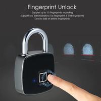 スマートロック キーレス 指紋ロック IP65 防水 盗難防止 セキュリティ 南京錠
