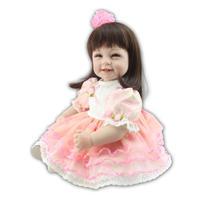 22インチ ロングヘア リボン お嬢様 お姫様 プリンセス 女の子 リボーンドール 赤ちゃん人形