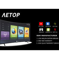40 inch  smart led tv with curved screen