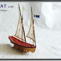 1/48 スケール フルリブ 帆船モデルキット ルレクゥイン Chebec 1750 船救命モデル