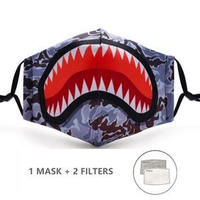 ファッションマスク おしゃれ 再利用可能 PM2.5フィルター紙2枚付き 防塵 フェイスマスク インフルエンザ防止 大人サイズ S0482A837