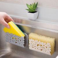 キッチン バスルーム 乾燥棚 トイレ シンク 吸引 スポンジ ホルダー