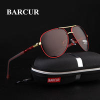 BARCUR アルミマグネシウム 男性 サングラス 偏光 コーティング ミラーメガネ
