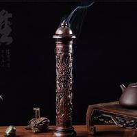 お香 黒檀ウッド 木製香炉 バーナー 線香ホルダー アンティーク アジア アロマセラピー リビングルーム 寝室 オフィス ヨガ