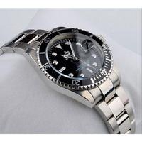 日本未発売 REGINALD 高級 スポーツメンズダイバーズウォッチ 腕時計 クオーツ ステンレス ブラック 黒