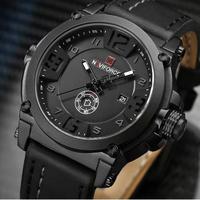 2017 新ファッション メンズ 腕時計 Naviforce Militray 革 防水 男性 レロジオ Masculino
