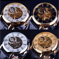 Forsining メンズ 腕時計 3D 文字盤 自動巻き 機械式 スケルトン 高級モデル ヨーロッパ 人気 日本未発売