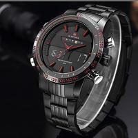 NAVIFORCE NF9024 ミリタリー デュアルディスプレイ ウィークデイト メンズ 腕時計