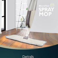 再利用可能なマイクロファイバーパッド 3枚付き ハンドルモップ 家庭用 キッチン セラミックタイル クリーニング フローリング 水拭き