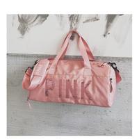 スパンコール PINK フィットネスバッグ スポーツバッグ ショルダー メッセンジャーバッグ カップル