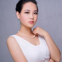 7-7.5 mm天然光沢のある日本アコヤ真珠チェーンネックレスウェディングファインジュエリー