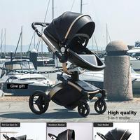 ベビーカー 360度 ゴールドフレーム 乳母車 安全シート バシネット 新生児 赤ちゃん