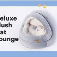 高品質 猫ハウス ベッド 子猫 ペット 猫 ソファ マット 小屋 Lサイズ