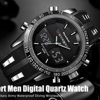高級ブランド 腕時計 男性用 スポーツ 時計 防水 LED デジタルクォーツ