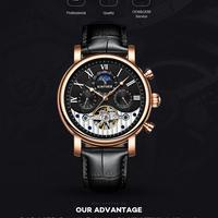 Kinyued ファッション トゥール ビヨン スケルトン 腕時計 メンズ スポーツ 高級 ブランド 自動 機械式 時計 カレンダー レロジオ masculino