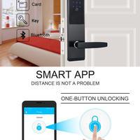 セキュリティ 電子コンビネーション ドアロック デジタルスマート WiFi タッチスクリーン キーパッド パスワードロック ホームオフィス ドアロック