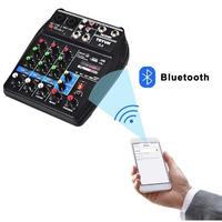 サウンドオーディオミキサー USB Bluetooth 録音 48ボット ファンタム電源