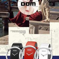 DOM 女性本革 ストラップ  エレガント腕時計