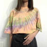 Vintage Tie Dye Design  Mock Neck S/S  T-shirt