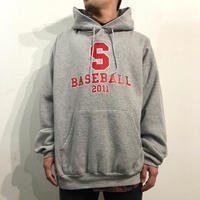 Baseball logo print hoodie