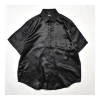Black satin S/S shirt