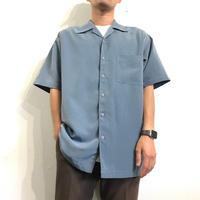 Grayish Blue Open Collar Shirt