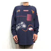 Racing Design Print L/S T-shirt