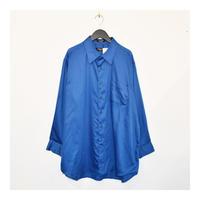 Deep blue color plain L/S shirt