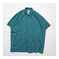 Vintage Over Size Guayabera Embroidery S/S shirt