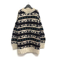 Old Mock Neck Knit Sweater