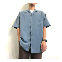 Grayish Blue Open Collar Shirt