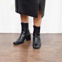 Vintage Leather Heel Boots