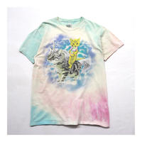 "Animal Printed ""猫"" S/S Tシャツ"