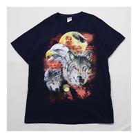 "Animal Printed ""犬""&""鳥"" S/S Tシャツ"