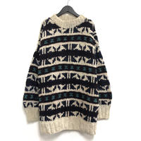 Old Mock Neck Knit Sweater