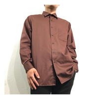 Dark Brown color L/S Dress shirt