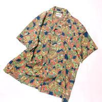 亀甲に草花模様(地紋なし)【M】【ケニシャツ】