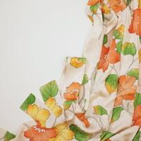 大花模様【ギャザーラップスカート】