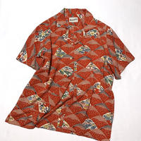 扇山花模様(地紋入り)【M】【ケニシャツ】