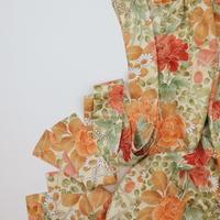 薔薇・牡丹模様【ギャザーラップスカート】