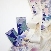 洋花模様紗綾型地紋【ギャザーラップスカート】
