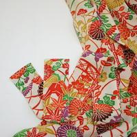 大花型染め縮緬【ギャザーラップスカート】