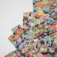 白縁草花模様【タックラップスカート】
