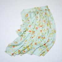 変わり大小霧に古典草花模様【ギャザーラップスカート】
