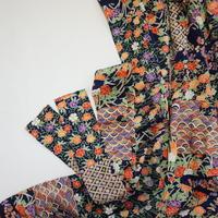 古典模様花づくし流水地紋【ギャザーラップスカート】