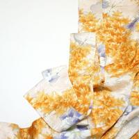 楓に花模様【タックラップスカート】