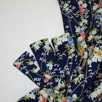 草花組亀甲地紋模様【ギャザーラップスカート】